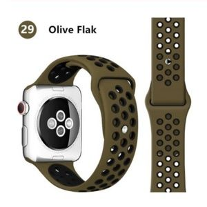❤️NEW Olive Green Black Sport Band For Apple Watch
